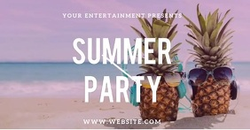 Summer Party Event Video Template Immagine condivisa di Facebook