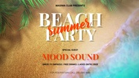 Summer Party Facebook Video template