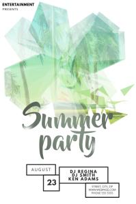 Summer party Flyer Template fir Summer