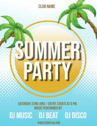 Summer Party Flyer, Hello Summer, Summer Beach Party