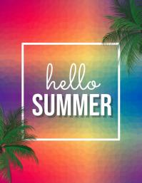 Summer Party Flyer, Hello Summer, Summer