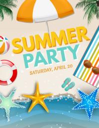 Summer Party Flyer, Summer Beach Party, Summer