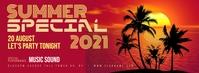 Summer Party Flyer Portada de Facebook template