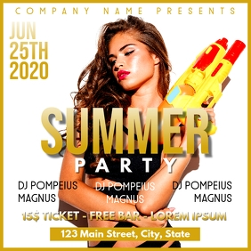 Summer party flyer instagram post advertiseme template