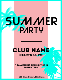 Summer party flyer template deisgn