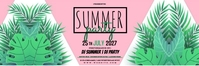 SUMMER PARTY FLYER TEMPLATE Banner 2 × 6'