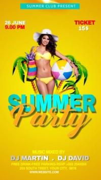 Summer Party Flyer Template Instagram-verhaal