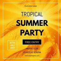 Summer party flyers Publicación de Instagram template