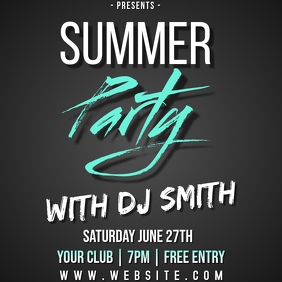 summer party instagram post ad TEMPLATE สี่เหลี่ยมจัตุรัส (1:1)