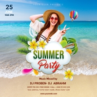 Summer Party Instagram post Square (1:1) template