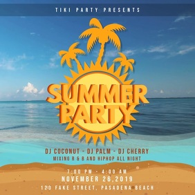 Summer Party Invitation Design