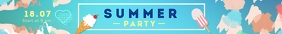 Summer Party Leaderboard Ad template