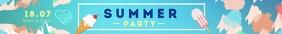 Summer Party Leaderboard Ad Førertavle template