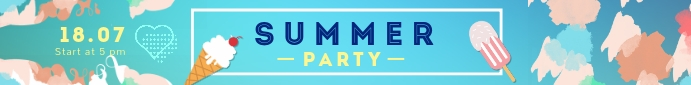 Summer Party Leaderboard Ad