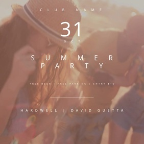 Summer Party Motion Poster