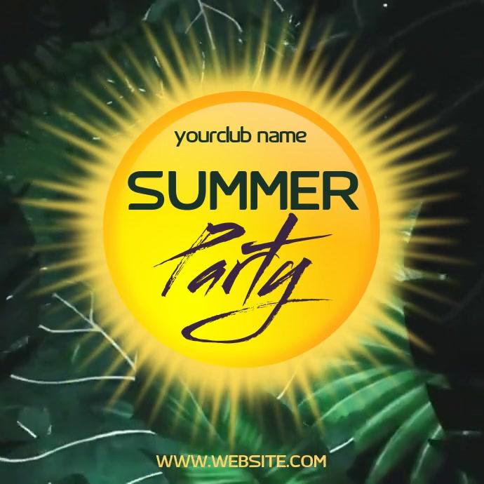 SUMMER PARTY NIGHT AD SOCIAL MEDIA Ilogo template