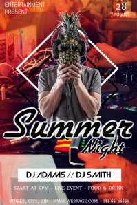Summer party night flyer template