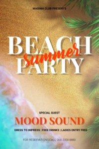 Summer Party Poster Affiche template