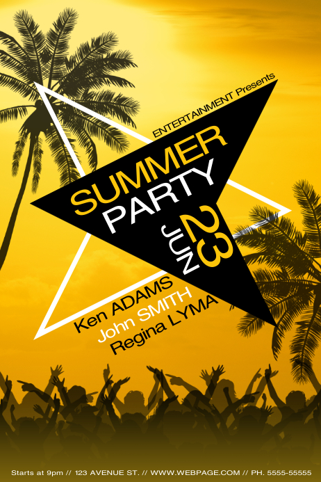 summer party flyer template postermywall