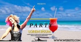SUMMER PARTY SOCIAL MEDIA AD template