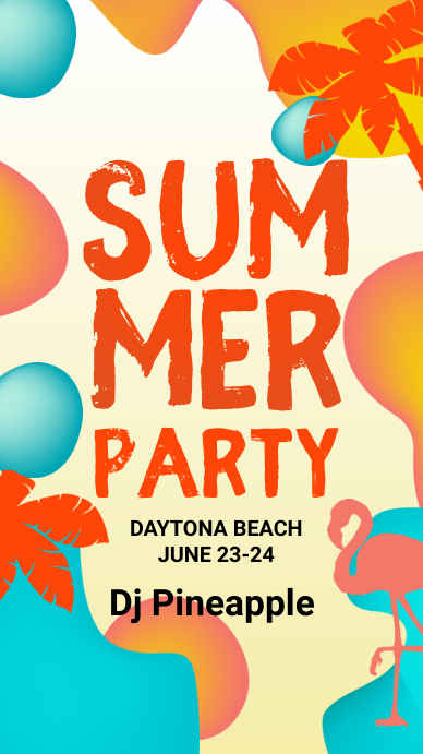 Summer party templete Instagram Story template