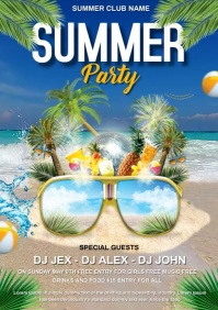 summer party video A4 template