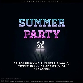 Summer Party Video Template advertising instagram