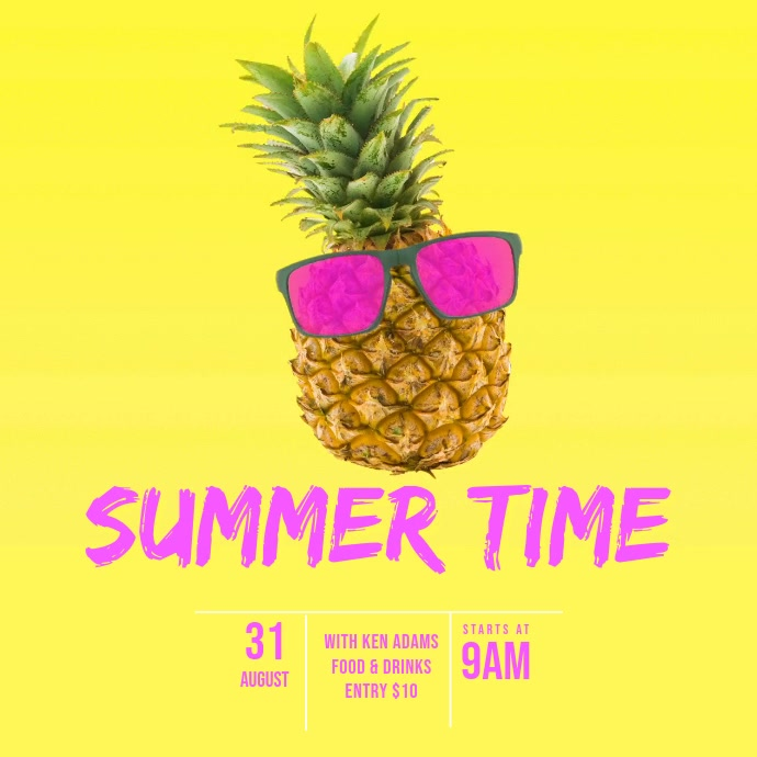 Summer Party Video Template