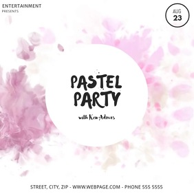 Summer Pastel Party Video Template