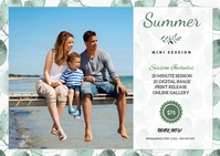 Summer Photography Mini Session Poskaart template