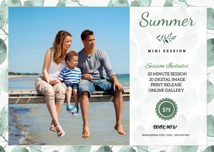 Summer Photography Mini Session Kartu Pos template
