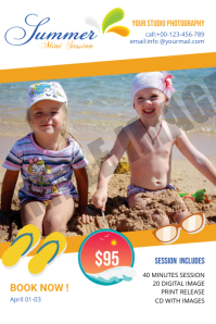 Summer Photography Mini Session Etiket template
