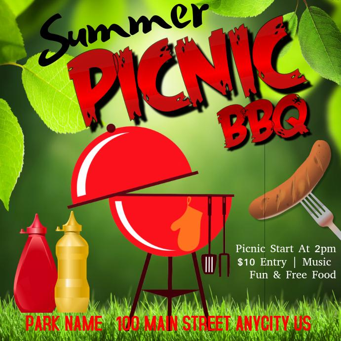 summer picnic bbq template