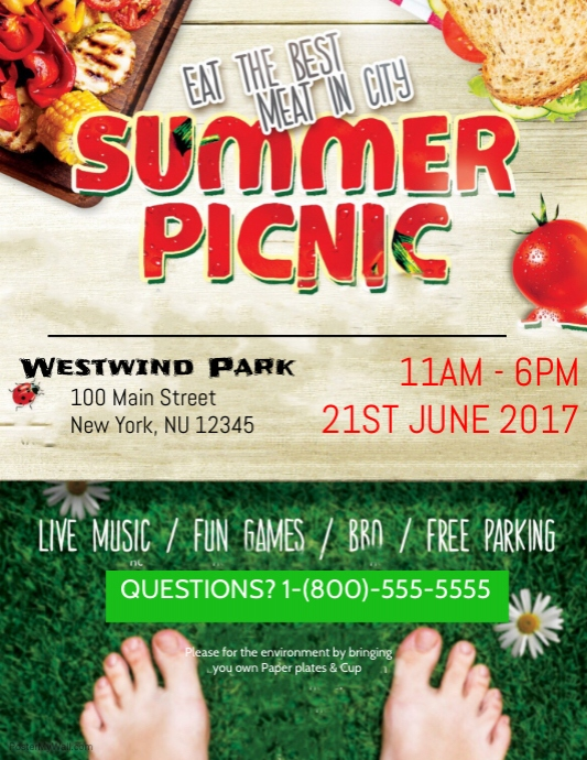 summer picnic template postermywall