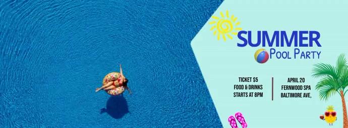 summer pool party Ikhava Yesithombe se-Facebook template