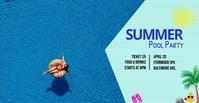 summer pool party Facebook Advertensie template