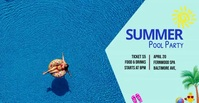 summer pool party Facebook Ad template