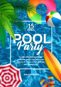 SUMMER Pool Party A4 template