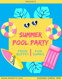 SUMMER POOL PARTY EVENT ad FLYER TEMPLATE