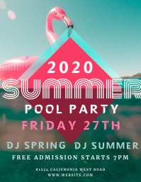 SUMMER POOL PARTY EVENT flyer template