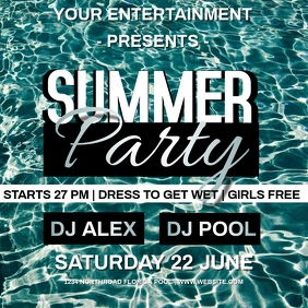 SUMMER POOL PARTY template instagram
