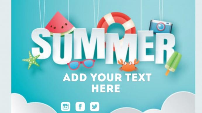 Summer Poster Presentation (16:9) template