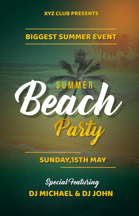 Summer Poster Template Design Tabloïd