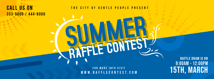 Summer Raffle Ballot Contest Invitation Facebook-omslagfoto template