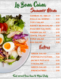 Summer Restaurant Menu Template