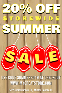 Summer Retail Sale Poster Template