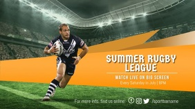 Summer Rugby League Screening Facebook Cover Video