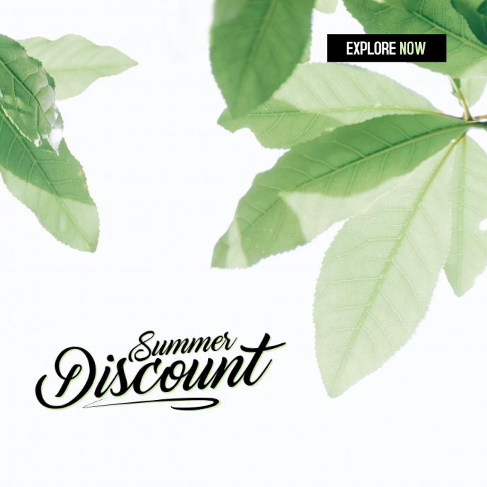 Summer Sale 2021 Capa de álbum template