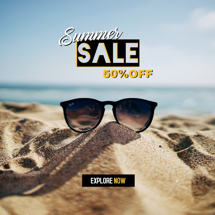 Summer Sale 2021 Capa de álbum template