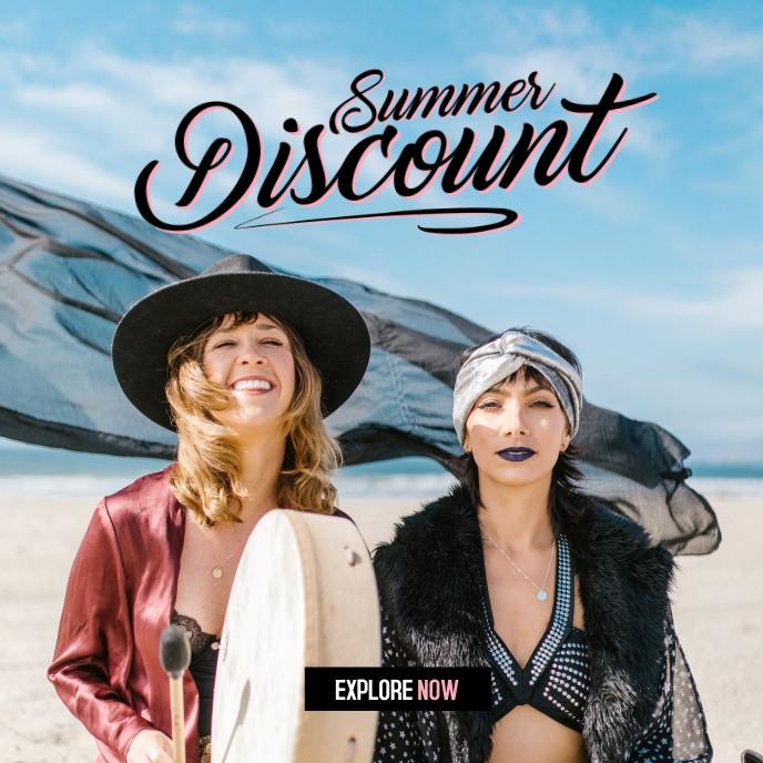 Summer Sale 2021 Sampul Album template